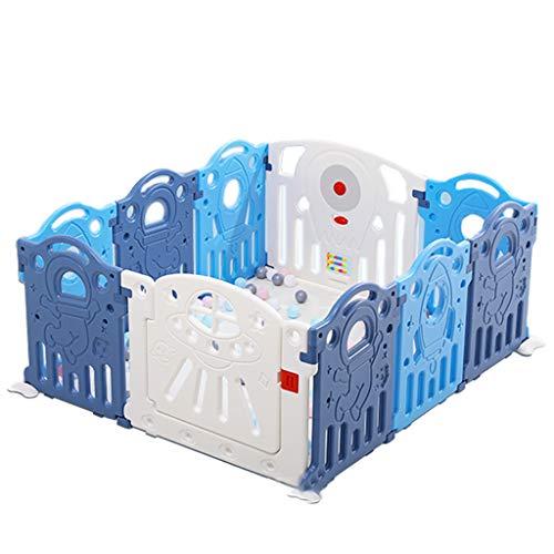 Draagbare Playpen Voor Baby, 14 Panel Activiteitscentrum Veiligheid Speelplaats Met Lock Deur, Kid's Hek Binnen Buiten, Gratis Installatie