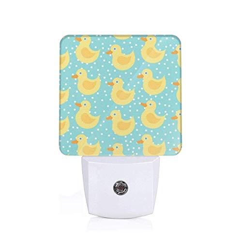 Lámpara Nocturna con Smart Pato amarillo Buena para la habitación de los niños, el baño, el pasillo el armario o cualquier habitación oscura