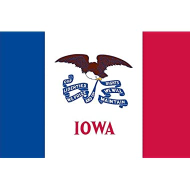 Valley Forge Flag Made in America 3' x 5' Nylon Iowa State Flag