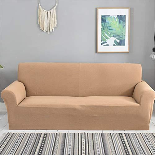 Tatane Verdicken Sie Stretch Slipcovers Einfarbig Sofa Cover Anti-Rutsch-Polyester Spandex Elastic Fabric Sofa Protector,C,4seater:200 * 300cm