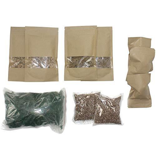 musykrafties Terrarium Fairy Garden Kits - Maak je eigen Living Terrarium Moss Soil Carbonized Charcoal