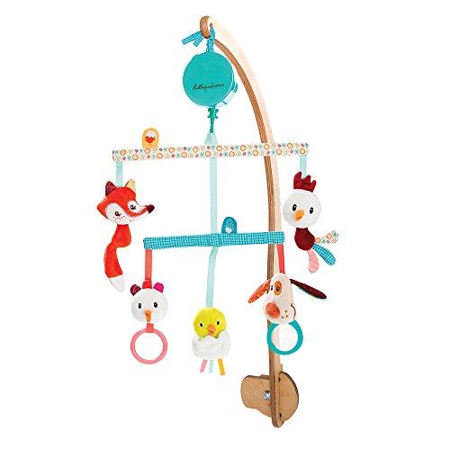 mobile musical bébé bois