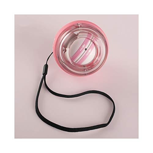 JSNRY Handgelenk-Kugel, Grip, Selbstanlauf Silent-Kreisel Handgelenk Trainingsball, Schwarz, Rosa Griff (Color : Pink)