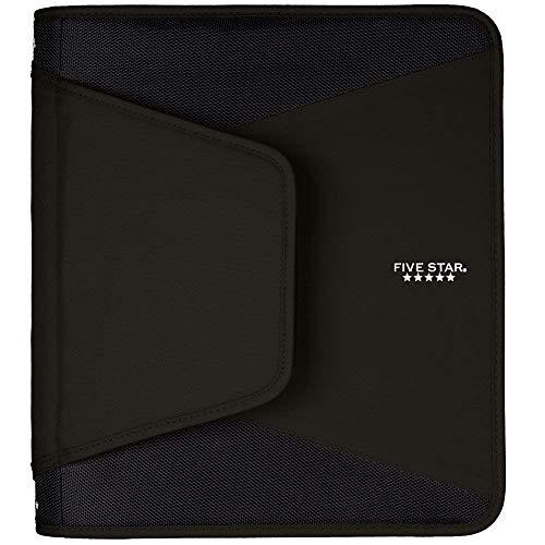 Five Star 1-1/2 Inch Zipper Binder, 3 Ring Binder, 3-Pocket Expanding File, Durable, Black (72204) (Limited Edition) Photo #2
