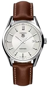 TAG Heuer Men's WV211A-FC6203 Leather Carrera Watch image