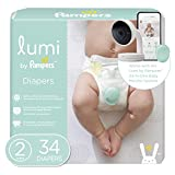 Lumi by Pampers Diapers Size 2, 34 Count, Mega Pack - Compatible with The Lumi Pampers Smart Sleep System (Sold Separately)