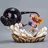 17 cm Anime One Piece Monkey D Luffy Third Gear Rubber Gun Statue Action PVC Figure Collection Model Toy regalo