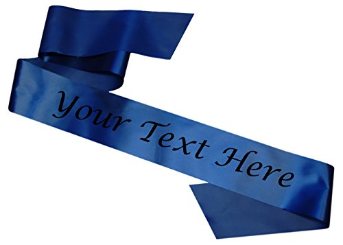 Bandas personalizables Azul Despedida de soltera Cumpleaños Sash Hen Party Birthday Prom Promotional Cheap