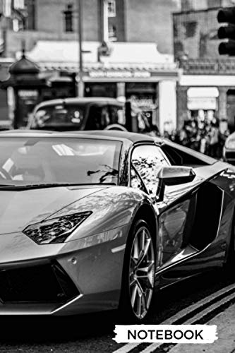 Lamborghini Supercars VIP CLUB Notebook : for boys & Men, Dream Cars Lamborghini Journal / Diary / Notebook,: Lined Composition Notebook, Ruled, 6