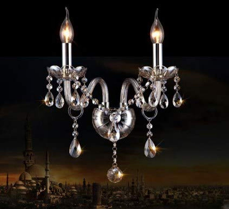 Europischen stil kristall wandleuchte luxus schlafzimmer ktv korridor nachttisch candela k9 kristall wandleuchte 1 2 3 kpfe wandleuchte, kognitiv silber, 3 lichter, e