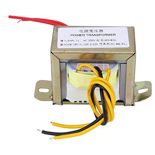 SANON Transformador de potencia de 12 V 30 W de entrada de CA 220 V de salida doble CA 12 V para placa amplificador de 2.1 canales (12...