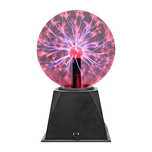 Luz de Bola de Plasma, Lámpara de Plasma, de Control de Sonido, Detección Táctil, Funciona con USB, 4 Tamaños, Adecuado para Niño, Adulto, Escuela y Familia