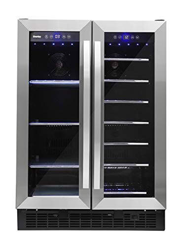 Danby DBC052A1BSS Built In Beverage Center, French Door Under Counter Beverage Cooler For Chilling Wine, Beer, Pop - In Stainless Steel - For Kitchen, Home Bar