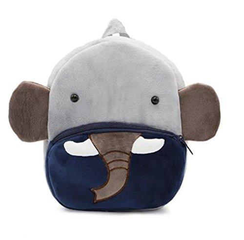 Cute Toddler Backpack Toddler Bag Plush Animal Cartoon Mini Travel Bag for Baby Girl Boy 1-6 Years (Elephant)