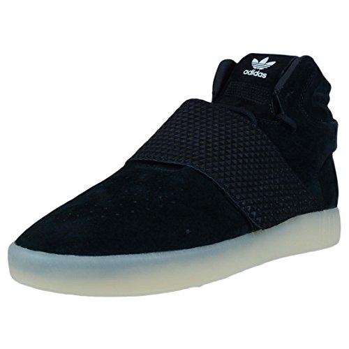 Adidas Tubular Invader Strap Men US 11 Black Sneakers
