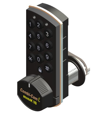 Combi-Cam E, 7910-K10, Electronic Cabinet Lock, Black Finish (Mro Storeroom Best Practices)