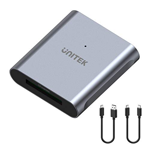 CFexpress Card Reader, Unitek USB 3.2 Type C to CFexpress B, Portable Aluminum Memory Card Adapter, Support for Thunderbolt 3 Port Connection, Compatible for SanDisk Sony TOPSSD Card