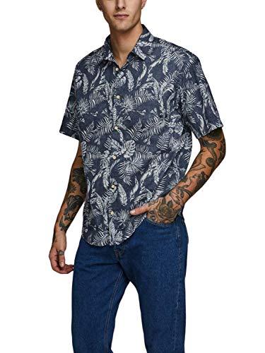 Jack & Jones Camisa Manga Corta JORELRON Shirt SS para Hombre Hombre