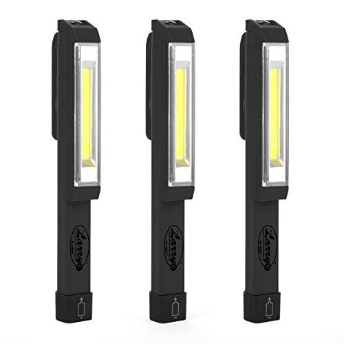 Nebo (Set of 3 Black) Larry C Power C-O-B LED Work Light Brighter Than Ever, 170 Lumens of Intense Light - NEBO 6352_3Pack