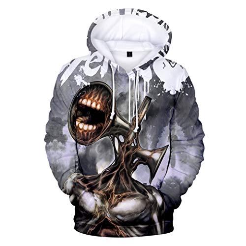 Greatbe Game Siren Head Sudadera con capucha para adultos, niños y jóvenes