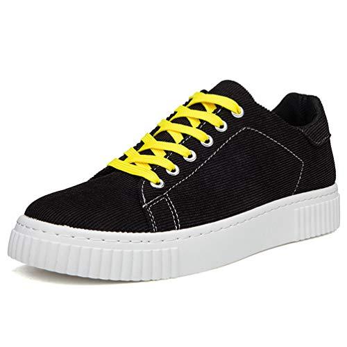 Männer Leinwand Schuhe rund um Zehen flachen nähmann Casual Soft Fashion Sneakers