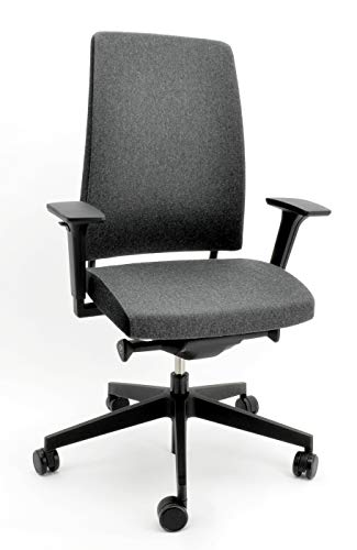 ProfiM Motto 10SFL Bürodrehstuhl, Hohe Rückenlehne und Synchronmechanik, grau/schwarz - Preisgruppe 3 - Ultima