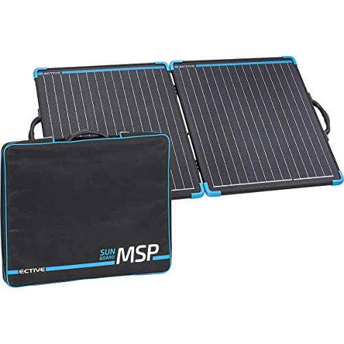 ECTIVE 12V 100W Klappbares Solarmodul Monokristallin mit Tragegriff MSP SunBoard 100 für Camping und Outdoor