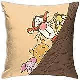 KINGAM Throw Pillow Covers Winnie The Pooh Pillowcase Cushion Case for Sofa Bed Chair Home Decor.(18x18 Inch)