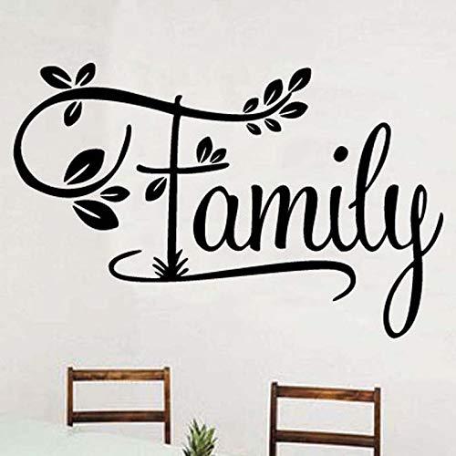 wopiaol Family Lettering Patroon Verwijderbare Wall Art Stickers voor Woonkamer Sweet Home Decor Vinyl Decals Wallpaper Murals
