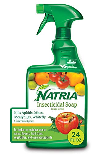 Natria 706230A Insecticidal Soap Organic Miticide, 24 oz, Ready-to-Use