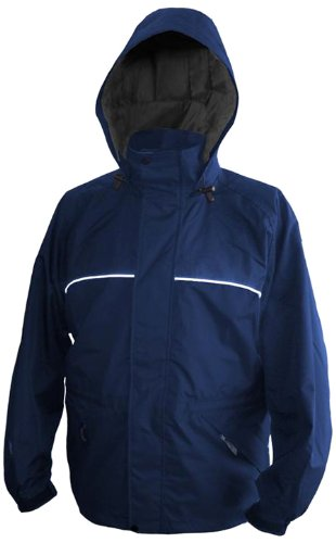 Viking Torrent Waterproof and Windproof All Weather Shell Jacket with Reflective Piping