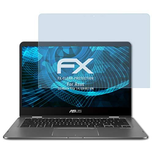 atFolix Schutzfolie kompatibel mit Asus ZenBook Flip 14 UX461UN Folie, ultraklare FX Bildschirmschutzfolie (2X)