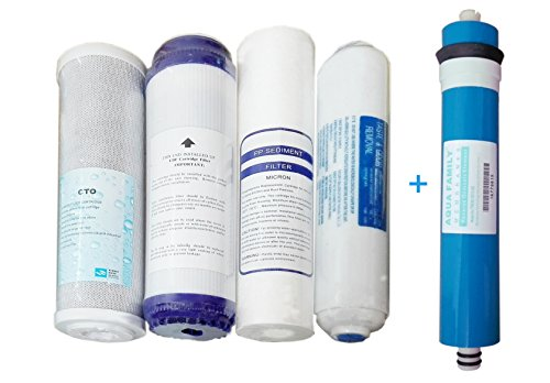 Kit OFERTA membrana + 4 filtros osmosis inversa compatible ASFILTER