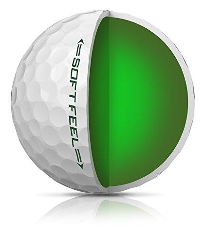 Srixon Soft Feel Golf Balls, White (One Dozen)