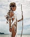 ganlanshu Pintura sin Marco Mujer India Cartel nórdico Chica Arte Lienzo póster e Impresiones Sala de Estar decoración del hogarZGQ2166 50X70cm