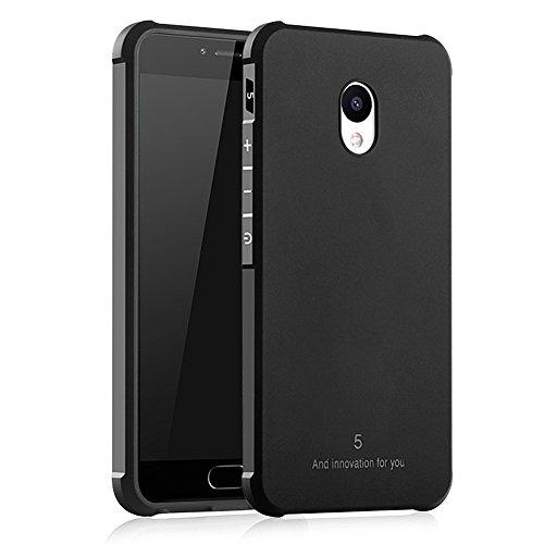 Hevaka Blade Meizu M5 Hülle - Weiche Silikon TPU SchutzHülle Tasche Case Cover für Meizu M5 - Schwarz