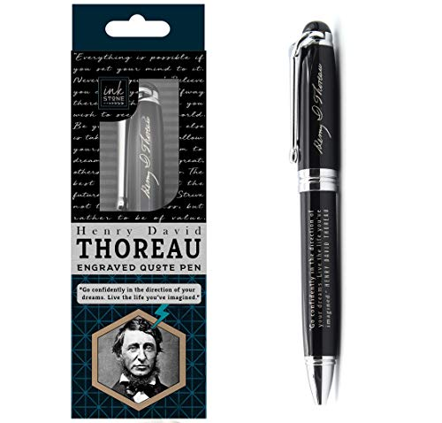 Henry David Thoreau Inspirational Quote Pen - Go Confidently in the Direction of Your Dreams. Live the Life Youve Imagined. - Business Quote Office Gifts for Graduates Students Professional Men Women