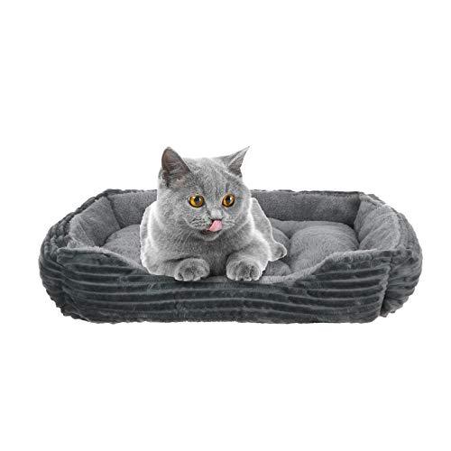 AOXING Cama para perros de moda, para gatos pequeños, cachorros, redondos, suave, almohadilla cálida, segura, cómoda, hace que tu mascota perro y gato sea un lugar dulce para dormir (B)