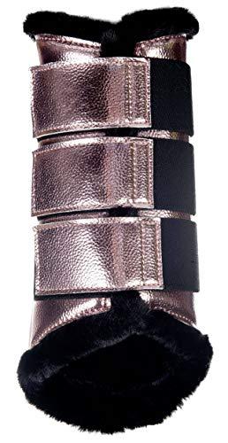 HKM Dressur Gamaschen -Metallic-, Rosegold, S