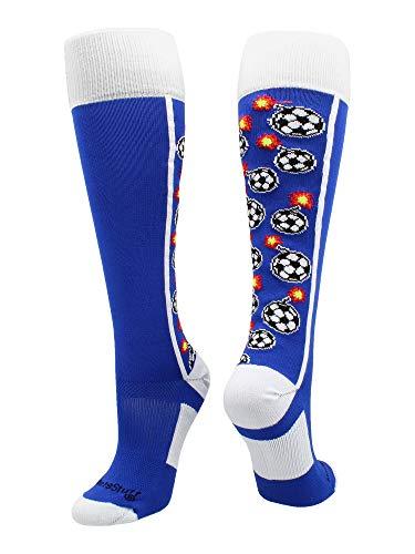 MadSportsStuff Bomber-Socken über die Wadenlänge, Mädchen, violett/weiß, Large