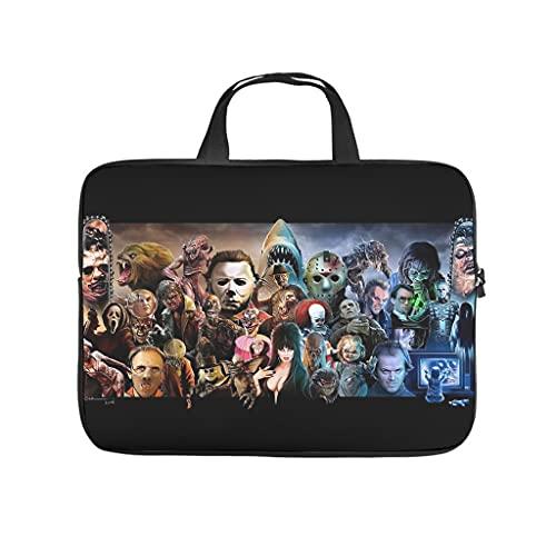 Halloween Películas Personajes Freddy Ordenador Portátil Tablet Bolsa de Transporte Impermeable Portátil Bolsa Protectora Para Negocios y Viajes Blanco 10 Zoll