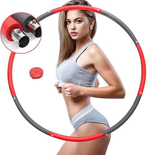 フラフープ ダイエット 大人用 人気 SGODDE 組み立て式 ステンレス鋼 8本 フィットネス 体操用品 ウエスト くびれ 引き締め 有酸素運動 直径95cm/1kg…