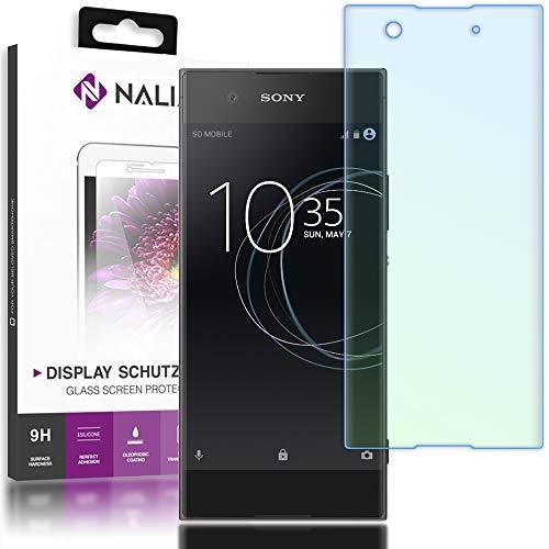 NALIA Schutzglas kompatibel mit Sony Xperia XA1, 3D Full-Cover Displayschutz Handy-Folie, 9H Härte Glas-Schutzfolie Bildschirm-Abdeckung, Schutz-Film HD Screen Protector Tempered Glass - Transparent
