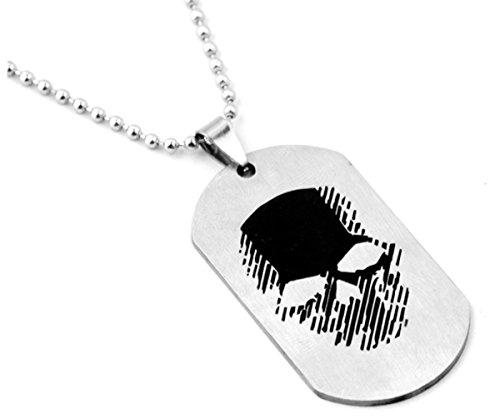 Fashion Jewery Collana con ciondolo a forma di amuleto Ghost Recon Wildlands in acciaio inox