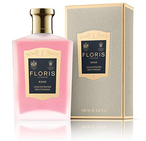 Floris London Rose Concentrated Mouthwash, 3.4 Fl Oz