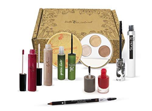 BELLE AU NATUREL/Coffret édition limitée de 7 essentiels maquillage BIO & NATUREL
