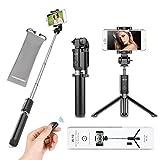 VANZAVANZU Selfie Stick with Tripod and Detachable Wireless Remote for iPhone x xr