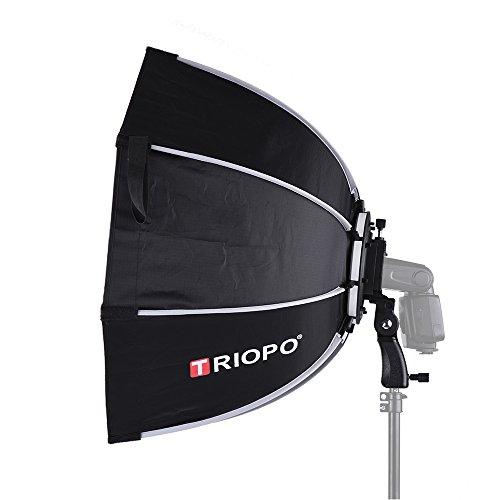 TRIOPO プロ ソフトボックス 65cm 折りたたみ 八角型 Canon/Nikon/Sonyスピードライト スタジオフラッシュ...
