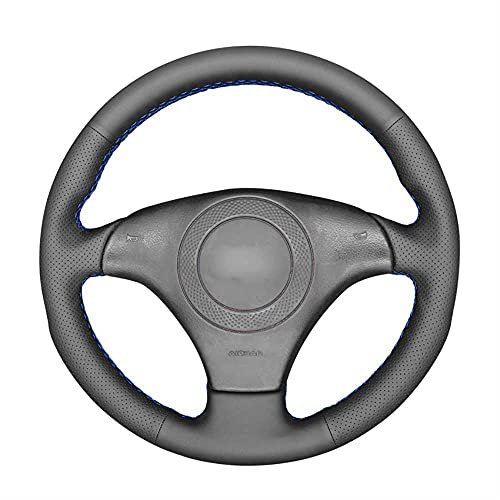 MIOAHD Cubierta Negra Cosida a Mano para Volante de Coche, Apta para Audi TT (8N) 1998-2001 A8 S8 (D2) 1998-2002 S4 (B5)