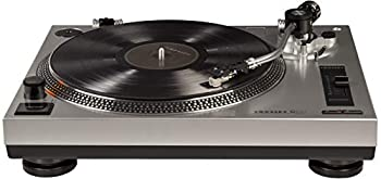 Crosley C100A-SI Belt-Drive Turntable with S-Shaped Tone Arm with Adjustable Counterweight Silver